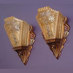 *vintage Consolidated Deco wall sconces