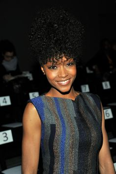 Yaya DaCosta Pinned Up Ringlets