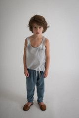 GRAY LABEL SUMMER TANK TOP – GREY & WHITE Stylish Summer Outfits, Gray Label, Summer Tank Tops, Baby Boy Fashion, Striped Shorts, Baby Boy Outfits, Short Sleeve Tee, Grey And White, Tees