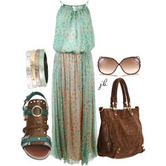 """Leopard Print Maxi Dress"" by jliz516 on Polyvore feat. #TomFord sunglasses"