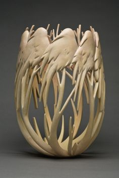 Ron Layport wood vessel.
