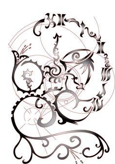#filagree #tribal #ink #tattoo #design Z Tattoo, All Design, Filigree, Tatting, Ink, Jacket, Crafts, Ideas, Manualidades