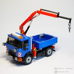 Lego Crane, Amg Logo, Knuckle Boom, Lego Truck, 3d Modelle, Lego Construction, Lego Design, Lego Models, Cool Lego