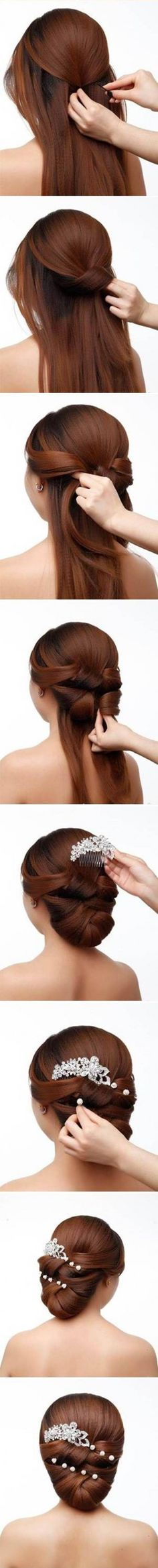 DIY Elegant Bridal Hairstyle
