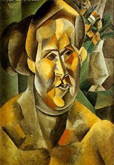 Buste de femme au bouquet (Fernande) 1909. Pablo Picasso (1881-1973)