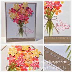 A Bouquet of Petite Petals | My Stampin' Project | Stampin' Up! | Petite Petals | Best of Love Stampin Up, Stamping Up Cards, Mothers Day Cards, Creative Cards, Cool Cards, Flower Cards, Greeting Cards Handmade, Scrapbook Cards, Homemade Cards