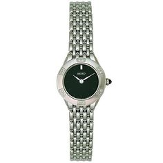 Seiko Women's SUJC45 Diamond Watch Seiko. $99.99. Hardlex crystal. Stainless-steel case; Black dial. Water-resistant to 99 feet (30 M). Quality Japanese-Quartz movement. Save 71% Off!