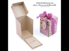 Stampin' Up! Foil Frenzy Drop Fronted Treat Box Tutorial - YouTube