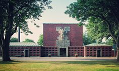 Søndermark Chapel and Crematorium, 1927-30, Frederiksberg, Denmark, by Frits Schlegel and Edvard Thomsen