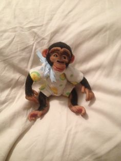 My ooak chimp monkey polymer clay.