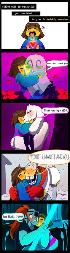 Frisk friendship smooch by Bunnymuse on DeviantArt