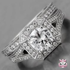Art Deco Ring - swoon (matching wedding ring too...)