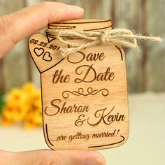 Mason Jar Save the Date is a traditionally looking save the date, but yet it is a unique product. The real wood inspires a natural feeling about the mason jar, while the twine gives it a rustic look. Both combined turn the save the date into an excellent gift for your guests, which will not only adorn their fridge, but will kindly remind them to save the date for the most memorable day of your life - your wedding! IMPORTANT: Please read carefully the description of this product, as well as…