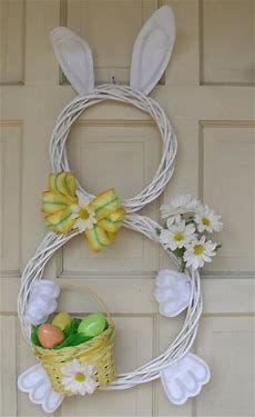 Easter Bunny Door Wreath DIY