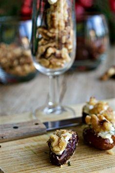 Dátiles rellenos de queso y nueces, un aperitivo #dobleS: sencillo y saludable