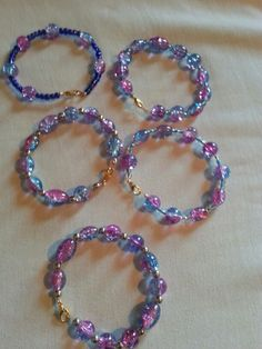 Bead and wire bracelets