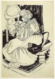 Sarah Bernhardt Dining in her Dressing Room