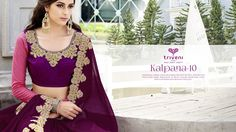 """""""Kalpana-10"""" - Triveni's Popular Collection Series of Exclusive Sarees in Georgette, Chiffon, Jacquard & Viscose Fabric with Heavy Embroidery Concept, Cut Work & Cut Patch, Brocade & Net Complimented by Bhagalpuri Silk in Embroidered Blouse Pieces.  Please contact your nearest Dealer.  FB Page - https://www.facebook.com/triveni.wholesale  Or FB Page - https://www.facebook.com/triveni.saree  For Wholesale Inquiry - Call or WhatsApp - Customer Care - +91 78741 18932 / +91 93282 18932 For…"""