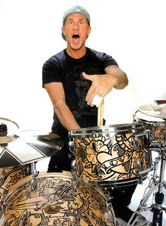 Chad Smith tatto art by henk schiffmacher                                                                                                                                                     More #AwesomeDrummers