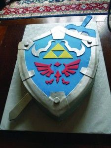 Cakes by Mom and Me - Ledgend of Zelda Hylian Sheild Cake