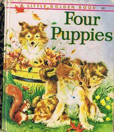 FOUR PUPPIES, Little Golden Book, Four colour back - http://www.tutorfrog.com/four-puppies-little-golden-book-four-colour-back/  #Toys #cooltoys
