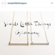 We love sharing giveaways with our brides! This necklace could be an adorable way to show off your new last name! Follow @simplelittlethingsco and repost. #SLTgiveaway by loveandlaughterevents