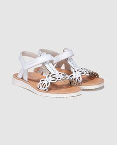 Sandalias de niña Pablosky blanca de piel · Pablosky · Moda · El Corte Inglés
