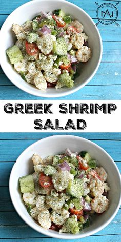 Greek Shrimp Salad - a paleo and gluten-free option that's great for lunch or dinner!