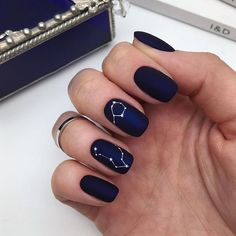 stunning dark blue matte square nails design for short nails in 2019 -You can find Matte nails and more on our website. Square Nail Designs, Black Nail Designs, Short Nail Designs, Nail Art Designs, Nails Design, Blue Nails With Design, Short Square Nails, Short Nails, Short Nail Manicure