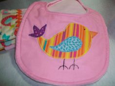 Baby Bib and Burp cloth set  Appliqued Little by PeaPodLilFrogs, $24.95
