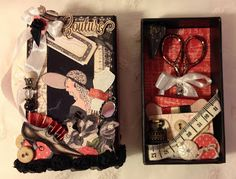 Couture travel sewing math box by Anne Rostad