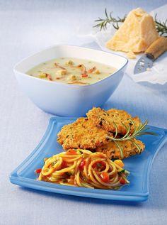 Puten-Piccata Milanese mit Gemüse-Spaghetti Recipe on Yummly. @yummly #recipe