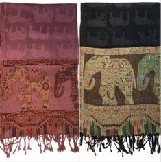 MYSTIC MAMA, our 25th Spirited Woman Prayer Scarf is filled with magical elephants. The scarf is available in two different colors - Mystic Rose and Mystic Black. The design on the scarf is very detailed and when you wrap yourself in it you can just feel the energy. I just love this scarf and you will too! Elephants, Just Love, Different Colors, Mystic, Prayers, Spirit, Symbols, Quilts, Woman