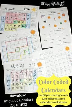 Whenever we are about to start a new month, it's time to prepare our color coded calendars! These are ESSENTIAL in my special education classroom. My students absolutely love filling out and coloring their calendars as it really helps them know what to ex