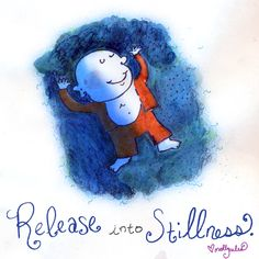 Buddha Doodle - 'Stillness' Books, Prints, and Teeshirts available at www.buddhadoodles.com