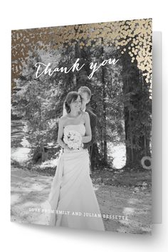 Wedding thank you card by Minted