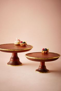 bhldn gilded wood cake stand in dcor cake accessories at bhldn