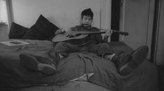 Bob Dylan in his Greenwich Village apartment at 161 West 4th Street.
