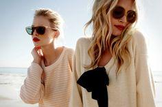 beach hair, vintage sunglasses, loose jumpers, beautiful sunlight