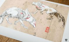 Beautifully illustrated Okami game prints by Cook & Becker - News - Digital Arts