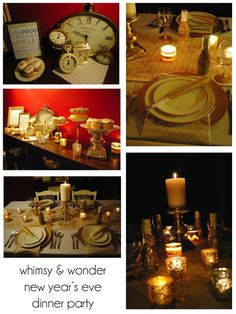 whimsy & wonder new years eve dinner party