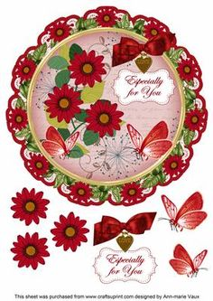 I have designed this gorgeous topper to make a 8in Doily topper for your cards, this is a circle shape and it will fit on a 8inch square card or trim the square card and round the corners for effect. The toppers are complete with decoupage and will look fabulous when you have made them. Use 3D foam or silicone glue for the decoupage pieces to give them alittle height for the layers. Please check the multi link for other colours, and other sentiments are available. Matching Daisy Envelopes…