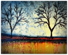 Abstract Tree Art Painting by Louisiana Artist Derek Patterson