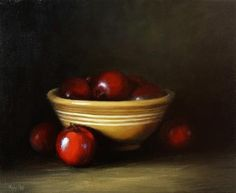 "Daily Paintworks - ""Grandma's Old Yellow Bowl with..."" by Mary Ashley"