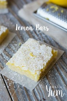 My favorite Lemon Bars recipe- made from scratch- so delicious- creamy lemon filling over a buttery crust