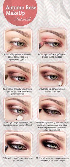 Autumn Rose makeup Tutorial