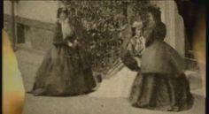 Empress Elisabeth and two ladies in waiting. Munich 1865.