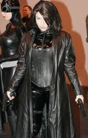 Underworld cosplay. Not terrible. She would have done well with the blue contacts though.