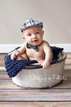 Prop Blanket navy knit newborn photography prop basket filler