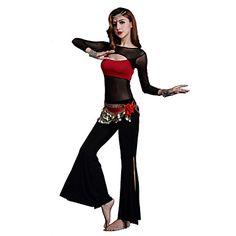 Buikdans Outfits Dames Opleiding Modal Kriskras 2-delig Lange Mouw Natuurlijk Broeken / Bovenkleding S:45cm/M:46cm/L:47cm – EUR € 28.80 Belly Dance Outfit, Female Girl, Dance Outfits, Dance Wear, Outfit Sets, Wonder Woman, Clothes For Women, Long Sleeve, Dancing